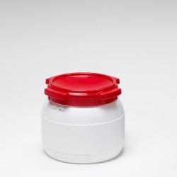 10 liter vat wijdmonds Curtec wit rood