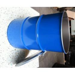60 liter Metalen vat grijs met deksel