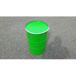 60 liter Metalen vat groen met deksel