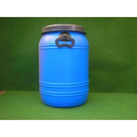 Plastic vat 60 liter blauw