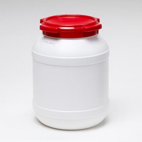 20 liter vat wijdmonds Curtec wit rood
