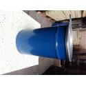 120 liter Metalen vat stapelbaar donkerblauw met deksel