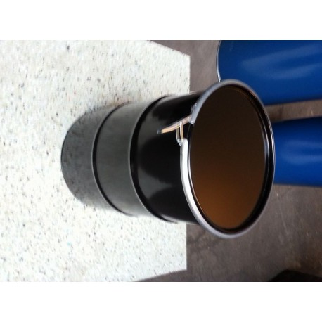 60 liter Metalen vat zwart met deksel