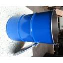 60 liter Metalen vat UNS blauw met deksel