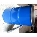 dekselvat 200 liter blauw